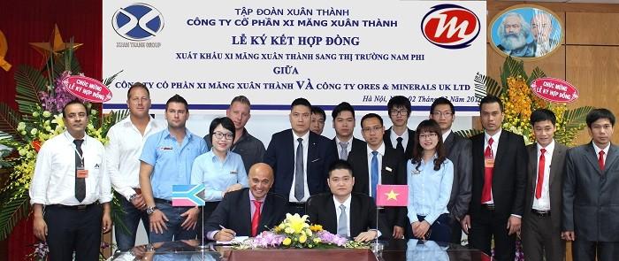Hợp đồng đưa Xi măng Xuân Thành sang Nam Phi có tổng giá trị vượt 1 tỉ USD